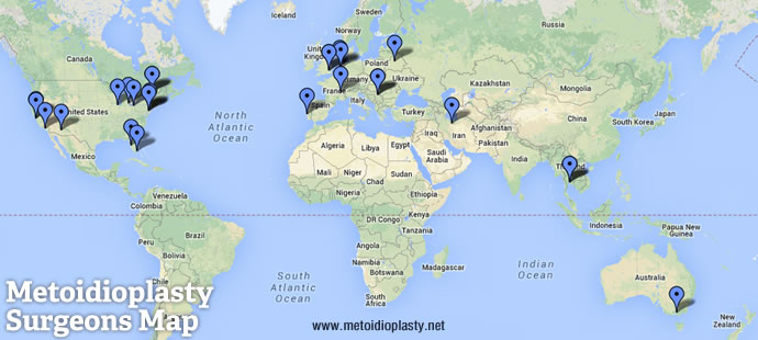 map of metoidioplasty surgeons